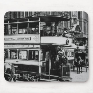 Trams in Manchester, c.1900 Mouse Mat