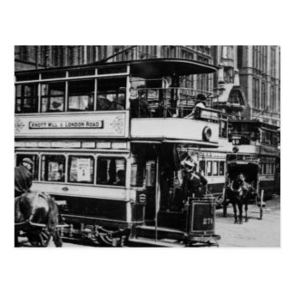 Trams in Manchester, c.1900 Postcard