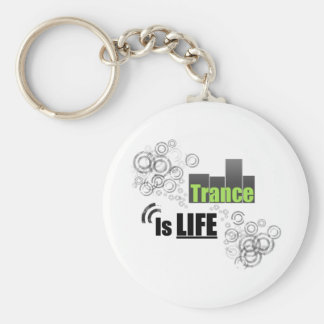 Trance Is Life Basic Round Button Key Ring
