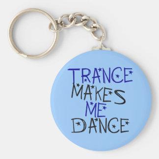 Trance Makes Me Dance Basic Round Button Key Ring