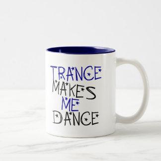 Trance Makes Me Dance Two-Tone Mug