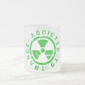 Trance music t shirt frosted glass mug