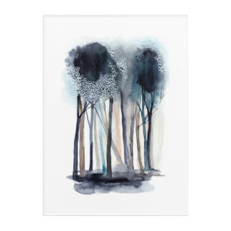Tranquil Abstract Trees 5 Acrylic Wall Art