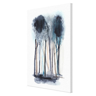 Tranquil Abstract Trees Canvas Print