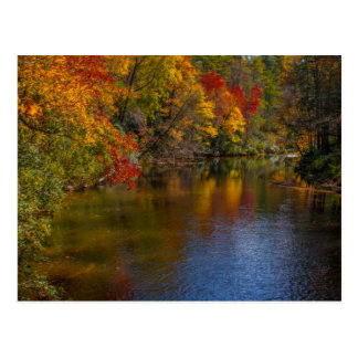 Tranquil Autumn on the River Post Card
