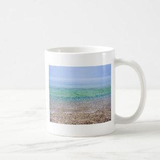 Tranquil Beach Basic White Mug