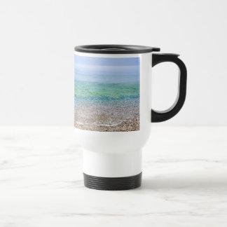 Tranquil Beach Stainless Steel Travel Mug