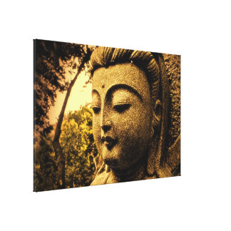 Tranquil Buddha Wrapped Canvas Stretched Canvas Print