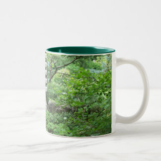 Tranquil Garden With Statue Mug
