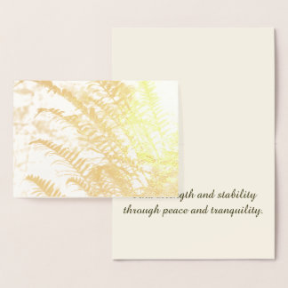 Tranquil Golden Fern Foil Card