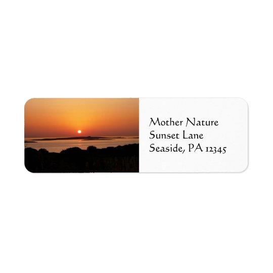 Tranquil Greek Sunset Return Address Labels