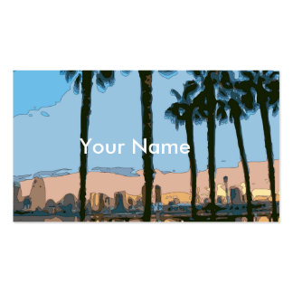 Tranquil Hawaiian Sunset Palm Trees Double-Sided Standard Business Cards (Pack Of 100)