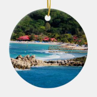 Tranquil Island Paradise Labadee Haiti Christmas Ornament