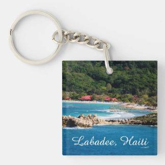 Tranquil Island Paradise Labadee Haiti Double-Sided Square Acrylic Key Ring