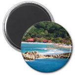 Tranquil Island Paradise Labadee Haiti 6 Cm Round Magnet