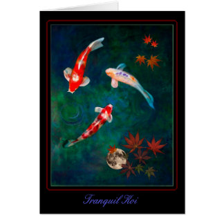 Tranquil Koi Greeting Card