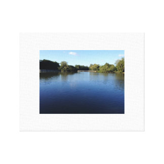 Tranquil lake canvas print