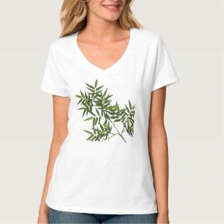 Tranquil Moments (TM) V-neck white Bamboo shirt