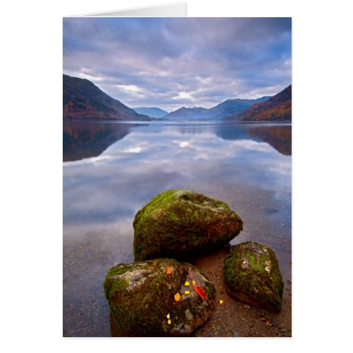 Tranquil morning, Ullswater, The Lake District Greeting Cards