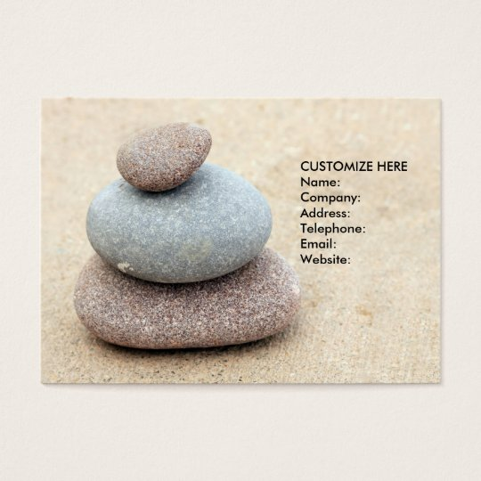 Tranquil Motivational Businesscard Business Card