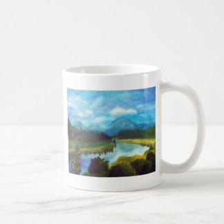 Tranquil Mountain Basic White Mug