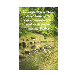 Tranquil pond canvas print
