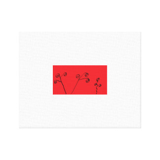Tranquil Red and Black Artwork Canvas Prints