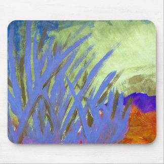 Tranquil reeds in Summer Mouse Mat