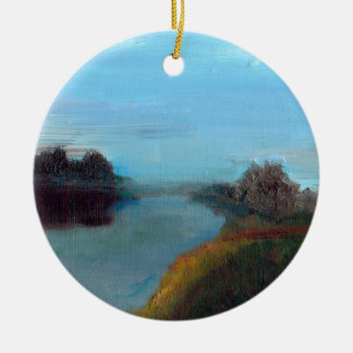 Tranquil River Scene (A Breath along the Severn) Christmas Ornament