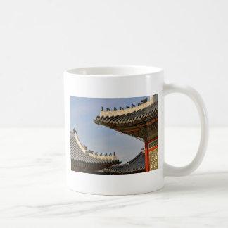Tranquil rooftops basic white mug