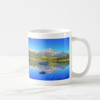 Tranquil Scene at Patricia Lake Basic White Mug