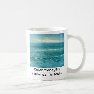 tranquil sea 16x20, Ocean tranquility  nourishe... Basic White Mug