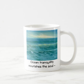 tranquil sea 16x20, Ocean tranquility  nourishe... Mugs