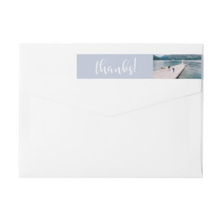 Tranquil Seas | Photo Wedding Thank You Wrap Around Label