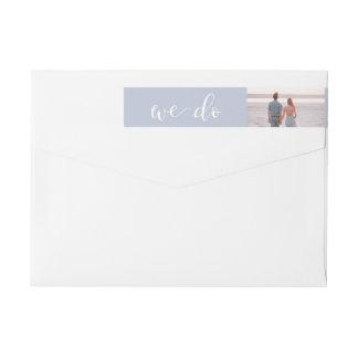 Tranquil Seas | Photo Wedding Wrap Around Label