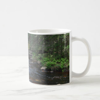 tranquil stream basic white mug