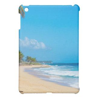 Tranquil tropical beach. Ocean waves, blue skies iPad Mini Cover