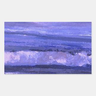 Tranquility 2 Purple Sea Waves Art Ocean Decor Stickers