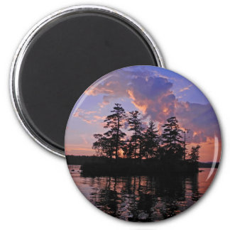 Tranquility at Twilight 6 Cm Round Magnet