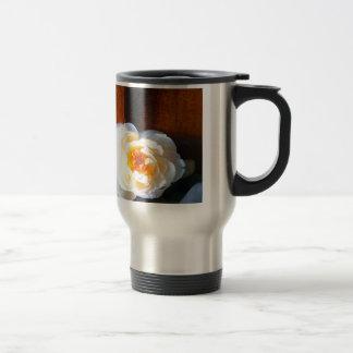 Tranquility Flower Stainless Steel Travel Mug