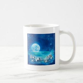 Tranquility, Full Moon, Meditation Basic White Mug