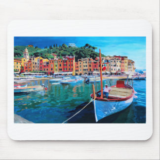 Tranquility in the Harbour of Portofino Mousepads