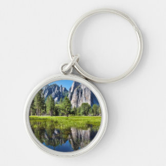 Tranquility In Yosemite Silver-Colored Round Key Ring