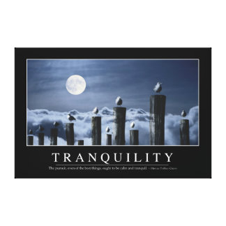 Tranquility: Inspirational Quote Canvas Print