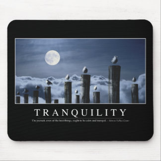 Tranquility: Inspirational Quote Mouse Mat