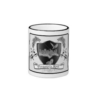 Tranquility Keep Family Logo Ringer Mug