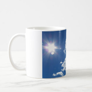 Tranquility puffy clouds Sunburst Mug
