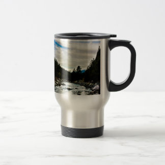 """""""Tranquility"""" Stainless Steel Travel Mug"""