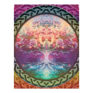 Tranquility Tree of Life in Rainbow Colors 21.5 Cm X 28 Cm Flyer