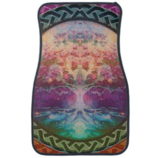 Tranquility Tree of Life in Rainbow Colors Floor Mat